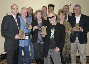 Rocky (left) with the 2012 Bram Stoker Award winners) in Salt Lake City